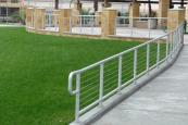 park enclosure with aluminum and stainless steel cable railing