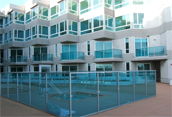aluminum railing for residental pool enclosures in California